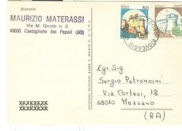 """""""TORNEO DI SCACCHI PER CORRISPONDENZA""""-1998 - CASTIGLIONE DEI PEPOLI (BOLOGNA)-MEZZANO (RAVENNA)-TIMBRO POSTE RIOVEGGIO - Scacchi"""