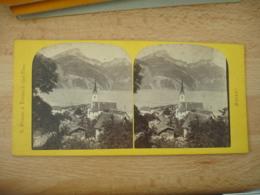 Photo Stereoscopique Stereo Fluelen Lac 4 Cantons - Photos Stéréoscopiques