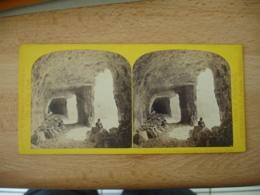 Photo Stereoscopique Stereo Tunnel Route Gothard ConstrucTION ? - Photos Stéréoscopiques