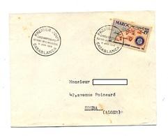 Lettre Fdc 1955 Rotary - Maroc (1956-...)