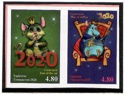 Tajikistan 2020 . Lunar Calendar (Year Of The Rat).Imperf. 2v:4.80,4.80 - Tajikistan