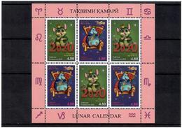 Tajikistan 2020 . Lunar Calendar (Year Of The Rat). M/S Of 6 - Tajikistan