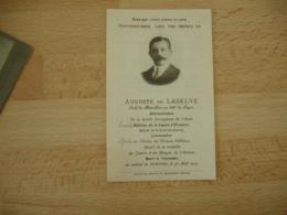 Guerre 14.18 Faire Part Deces  Auguste De Laselve  Chef Bataillon 2232 Eme Ligne Mort A Gerbviller 1914 - Obituary Notices