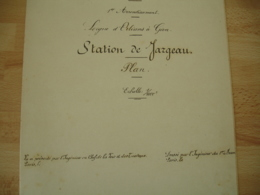 Plan Service Voie Chemin Fer Paris Orleans Station Jargeau Plan - Historische Documenten