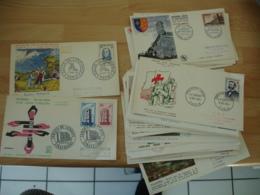 Annees 1955 A 58 Fdc  Enveloppe 1 Er Jour  Toute Differente Lot De 3 - FDC