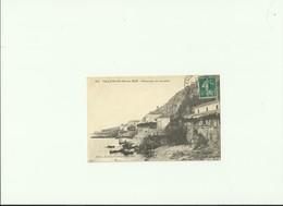 CPA 06 VILLEFRANCHE SUR MER PANORAMA Du LAZARET ECRITE TIMBRE Et TAMPON 1912 - Villefranche-sur-Mer