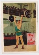 CARTE MAXIMUM CM Card USSR RUSSIA Sport Barbell Sportsman - Cartes Maximum