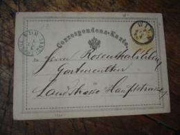 1870 Autriche Osterreich Stationney Card Entier Postal Cachet Bleu Landstrasse Wien - Entiers Postaux