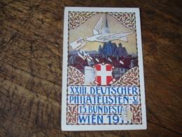 Wien 1911 , 23 Deutscher Philatelisten T S C Entier Postal Stationner Card  Offizielle Postkarte - Entiers Postaux