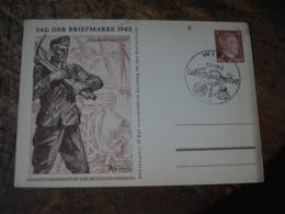 3 Eme Reich Guerre 39.45 Lot 3 Entier Postal Entiers Postaux Propagande Wien 1942 Tag Der Briefmarke - Duitsland
