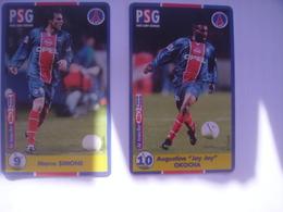 2 Telecartes Paris Saint Germain Jay Jay Okocha Marco Simone - Sport