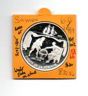 SAMOA 10 DOLLAR 1994 COMTE DE PEROUSE AG PROOF LOW MINTAGE - Samoa