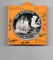 VANUATU 50 VATU 1993 THE BONDEUSE SHIP SCHIP AG PROOF - Vanuatu
