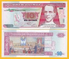 Guatemala 10 Quetzales P-89 1995 UNC Banknote - Guatemala