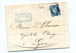 Lettre   Cachet Etoile Sur Ceres + Lyon Paris à Lyon - Marcophilie (Lettres)