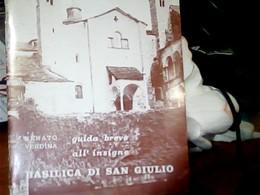 BASILICA SAN GIULIO LIBRETTO ED  Del Vescovo  DEL  MONTE  1970  HK4851 - Dépliants Turistici