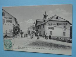 GEX -- Col De La FAUCILLE -- Diligence & Voiturette Au Col De La Faucille - Cpa 1906 - Cachet Hôtel De La Faucille - Commerce