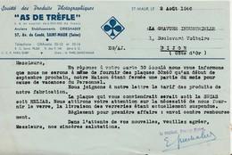 Publicité Photographie / Sté As De Trèfle / Août 1946 / Livraison Verres Suspendue ( Pénurie Guerre) / Saint-Maur 94 - Photographie