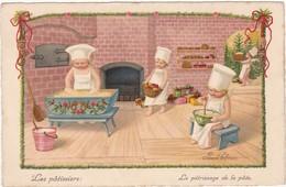 Illustrateurs : Pauli EBNER : Les Patissiers - Le Pétrissage De La Pate - Ebner, Pauli