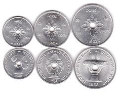 Laos - Set 3 Coins 10 20 50 Cents 1952 UNC Lemberg-Zp - Laos