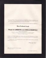 CONS-LA-GRANVILLE Maire Marie-Derdinand Marquis De LAMBERTYE Et De CONS-LA-GRANDVILLE  1894-1957 En 2 Volets Ok - Décès