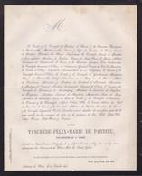 Château De HUN Sous-officier 1er SAPHIS Ségénal Tancrède De PARDIEU  25 Ans 1868 DESMANET De BOUTONVILLE Annevoie - Décès