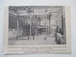 """Matériel De Fabrication Du Papier Gélatino Bromure  """"MICHEL & PAILLOT"""" -  Coupure De Presse De 1924 - Matériel & Accessoires"""