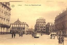 Liège - Place Du Maréchal-Foch (animée Tram Marchand De Glaces Legia) - Liege