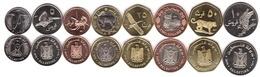 Palestine - Set 8 Coins 1 2 1/2 5 10 25 50 Fils 1 2 Dinars 2010 UNC Lemberg-Zp - Otros – Asia