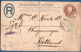 Britain 1903 Registered Envelope Edward VII Leadenhall St (London) To Wageningen Netherland153x96 Mm Type 1902 2002.1513 - 1902-1951 (Koningen)