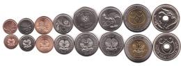 Papua New Guinea - Set 8 Coins 1 2 5 10 20 50 Toea Normal 1 2 Kina 1995 - 2014 UNC / AUNC Lemberg-Zp - Papua New Guinea