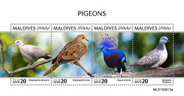 Maldives. 2020 Pigeons. (0913a) OFFICIAL ISSUE - Tauben & Flughühner
