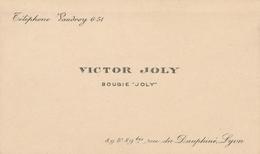 Rare Carte De Visite Victor Joly Bougie Joly Rue Du Dauphiné-Lyon Signature Verso écrit - Visiting Cards