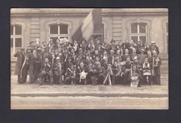 Carte Photo Krameyer Rombas Conscription 1940 Groupe De Conscrits Drapeau Tricolore (Ref 40464) - Otros Municipios