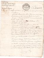 Papier Timbré De 1791 Taxé à 8 Sols - Revenue Stamps
