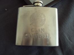 "FLASQUE à Whisky ""CLAN CAMPBELL"" Petit Format De Poche, Poids 111 Grammes        Net    8 Euros - Whisky"