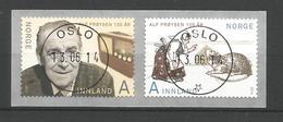 Norway 2014 Alf Proyson Centenary Central Cancel  Y.T. 1806/1807 (0) - Gebruikt