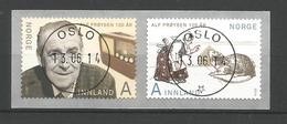 Norway 2014 Alf Proyson Centenary Central Cancel  Y.T. 1806/1807 (0) - Norvège