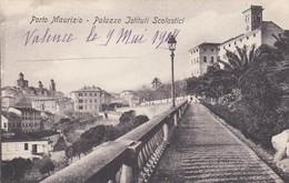 PORTO MAURIZIO-IMPERIA-PALAZZO E ISTITUTI SCOLASTICI-CARTOLINA NON VIAGGIATA -DATATA 9-5-1914 - Imperia