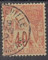 #142# COLONIES GENERALES N° 57 Oblitéré Libreville (Congo) - Alphee Dubois