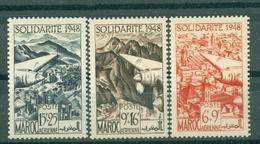 MAROC - PA N° 71* MH à 72** MNH Et 73** MNH  SCAN DU VERSO (pour Le N°71  TRACE DE CHARNIERE) - Maroc (1956-...)