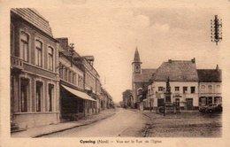 CYSOING VUE SUR LA RUE DE L EGLISE - Otros Municipios