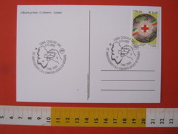 A.14 ITALIA ANNULLO 2005 COSSATO BIELLA 25 ANNI C.R.I. CRI CROCE ROSSA ITALIANA COMITATO LOCALE MANO MAPPA CARTA GEOGRAF - Primo Soccorso