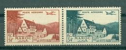 MAROC - PA N° 68** MNH Et 69** MNH SCAN DU VERSO LUXE - Maroc (1956-...)