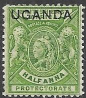 Uganda   1902   Sc#77   1/2anna  MLH   2016 Scott Value $3.25 - Protettorati De Africa Orientale E Uganda