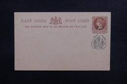 INDE / JHIND - Entier Postal Type Victoria Surchargé Jhind State, Non Voyagé - L 53356 - Jhind