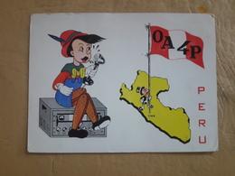 Carte Radio Pérou Avec Image Pinocchio - Pérou