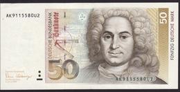 Deutsche Bundesbank- 50 DM - Geldschein Vom 2. Januar 1989 - Vorzüglich. Billet De 50 DM. Excellent - [ 7] 1949-… : RFA - Rép. Féd. D'Allemagne
