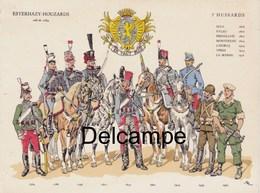 Carton Simple : Les Uniformes Du 3ème Régiment De Hussards De 1764 à 1960 , Période AFN - Documents