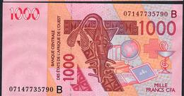 W.A.S. BENIN VERY RARE DATE P215Be 1000 FRANCS 2003 DATED 07=  (20)07 SIGNATURE 34 UNC. - États D'Afrique De L'Ouest